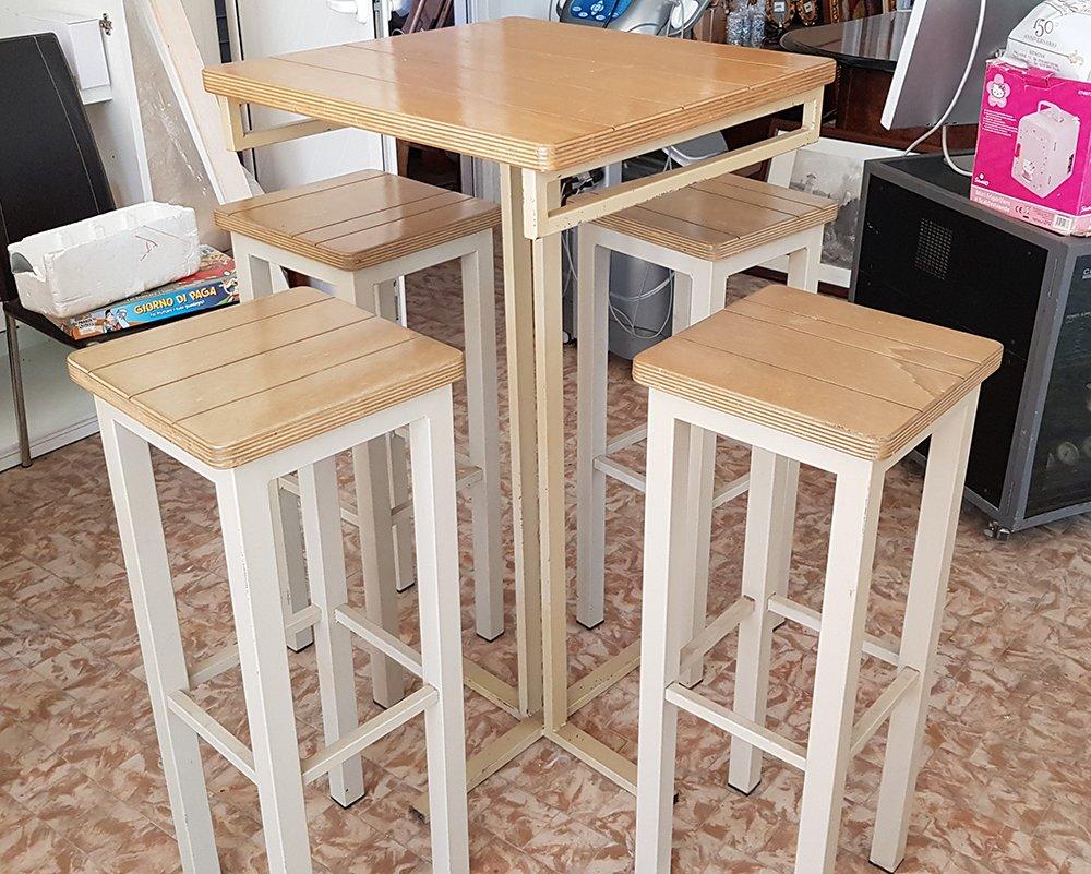 Set tavolino da bar 4 sgabelli disponibili vari pezzi tuttousato